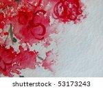 Cherry Blossoms Watercolor 1 - stock photo
