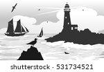 seascape lighthouse on the... | Shutterstock .eps vector #531734521