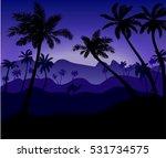 Night Desert Landscape With...