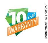 vector logo 10 years warranty   Shutterstock .eps vector #531735097