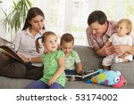 nuclear family  parents with... | Shutterstock . vector #53174002