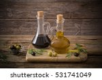 olive oil and balsamic vinegar... | Shutterstock . vector #531741049