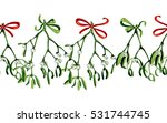 seamless watercolor christmas... | Shutterstock . vector #531744745