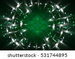 abstract fractal green... | Shutterstock . vector #531744895
