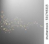 gold glittering star dust trail ... | Shutterstock .eps vector #531745315