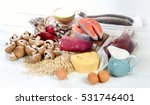 foods of vitamin b12  cobalamin ... | Shutterstock . vector #531746401