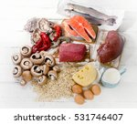 foods of vitamin b12  cobalamin ... | Shutterstock . vector #531746407
