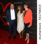 Small photo of NEW YORK-DEC 01:(L-R) Revlon CEO Fabian Garcia, Halle Berry & Dr. Jill O'Donnell-Tormey attend Revlon's Love Is On Million Dollar Challenge Party at The Glasshouses December 1, 2016 in New York City.