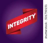 integrity arrow tag sign. | Shutterstock .eps vector #531750151