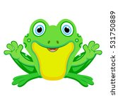 Happy Green Frog.