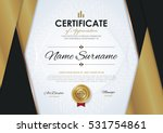 certificate template with... | Shutterstock .eps vector #531754861