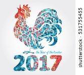 rooster  chicken  cock. vector... | Shutterstock .eps vector #531755455