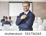 portrait of happy businessman...   Shutterstock . vector #531756265