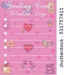 illustration of greeting card... | Shutterstock .eps vector #531757411