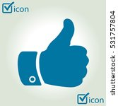 like  icon. hand finger up sign....