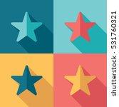 star flat illustration set....   Shutterstock .eps vector #531760321