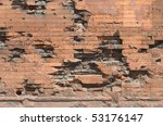 War Damaged Brick Wall As A...
