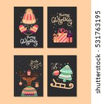 collection of vector christmas... | Shutterstock .eps vector #531763195