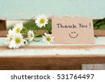 Thank You Note With Smile Face...