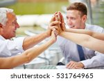 many hands of business team... | Shutterstock . vector #531764965