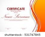 certificate of achievement... | Shutterstock .eps vector #531767845