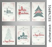 set of christmas  greeting... | Shutterstock .eps vector #531768901