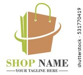 online shop logo template design | Shutterstock .eps vector #531770419