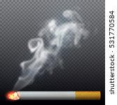 realistic burning cigarette... | Shutterstock .eps vector #531770584