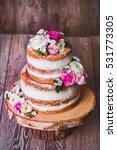 homemade wedding naked cake ... | Shutterstock . vector #531773305