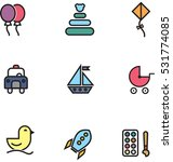 toy line colored icons | Shutterstock .eps vector #531774085