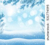 winter bright background.... | Shutterstock . vector #531774595