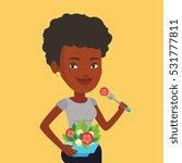 an african american woman... | Shutterstock .eps vector #531777811