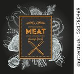 design template for meat market.... | Shutterstock .eps vector #531780469