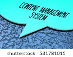 content management system ... | Shutterstock . vector #531781015