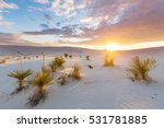 unusual white sand dunes at... | Shutterstock . vector #531781885