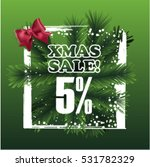 christmas sale sign vector... | Shutterstock .eps vector #531782329