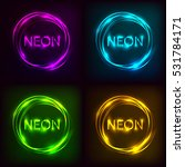 neon inscription set. electric...   Shutterstock . vector #531784171