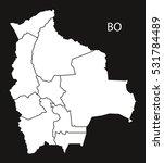 bolivia departments map black...   Shutterstock .eps vector #531784489