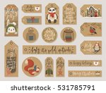 christmas kraft paper cards and ... | Shutterstock .eps vector #531785791