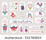 christmas gift tags set  hand... | Shutterstock .eps vector #531785824