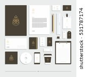 corporate identity  stationery... | Shutterstock .eps vector #531787174