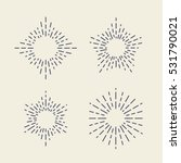 set of vintage sunbursts in... | Shutterstock .eps vector #531790021
