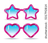 different types of glasses... | Shutterstock .eps vector #531792814
