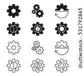 gears  cogs wheels or sprocket... | Shutterstock .eps vector #531792865