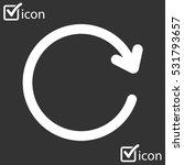 ciircular arrow sign vector...   Shutterstock .eps vector #531793657