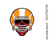 skull rugby vector illustration ...   Shutterstock .eps vector #531793759