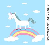 cute card with unicorn | Shutterstock .eps vector #531795079