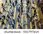 busy pedestrian crossing at... | Shutterstock . vector #531797614