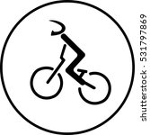 bicycle racer stick sign | Shutterstock .eps vector #531797869