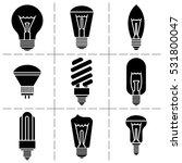 light bulb icon set. | Shutterstock .eps vector #531800047